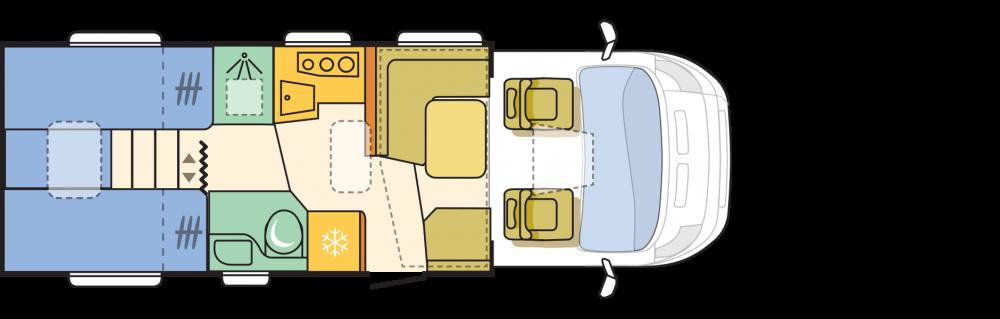 Citroen Jumper Adria Matrix - przekrój